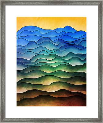 The Hills Are Alive Framed Print by Brenda Bryant