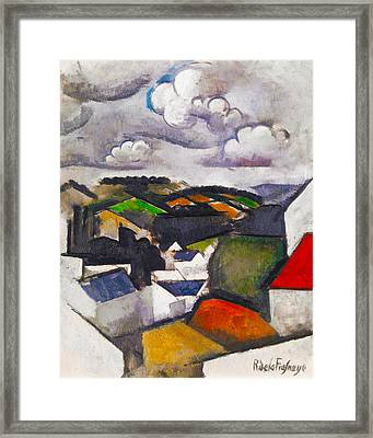The Hills Beyond Meulan Framed Print by Roger de La Fresnaye