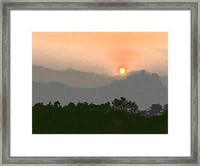 The Hills Of Aragon Framed Print by Dennis Buckman