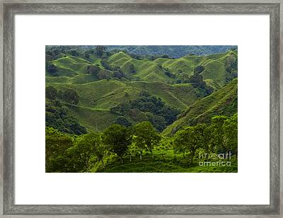 The Hills Of Caizan Framed Print by Heiko Koehrer-Wagner