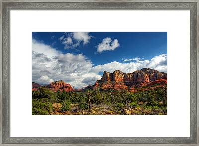 The Hills Of Sedona  Framed Print