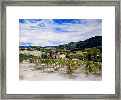 The Hills Of Tuscany Framed Print by Monika Degan