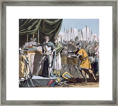 The Historic Day Of Bouvines In 1214 Framed Print by Jacques Francois Joseph Swebach