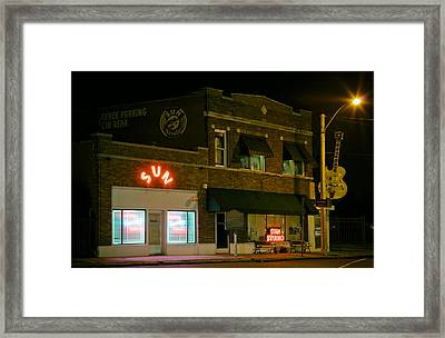 The Historic Sun Record Studio In Memphis Framed Print by Mountain Dreams