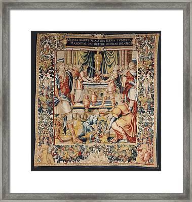 The History Of Hannibal Hannibals Oath Framed Print by Everett