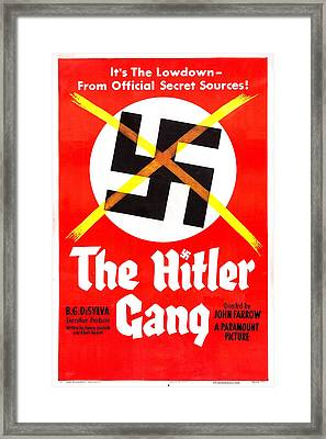 The Hitler Gang, Us Poster, 1944 Framed Print by Everett
