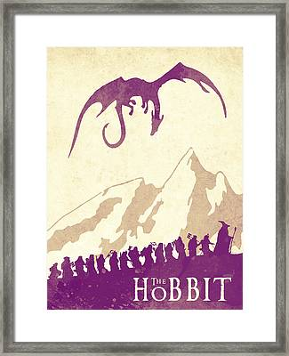 The Hobbit - Lord Of The Rings Poster. Watercolor Poster. Handmade Poster. Framed Print