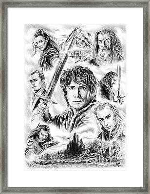 The Hobbit Middle Earth Framed Print by Andrew Read