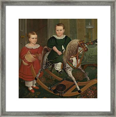 The Hobby Horse Framed Print by American School