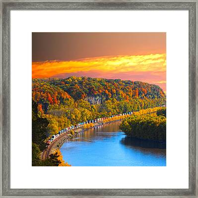 The Hobo Train Up The Mississippi Framed Print by Randall Branham