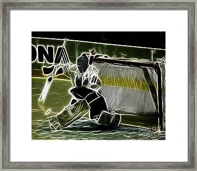 The Hockey Goalie Framed Print by Bob Christopher