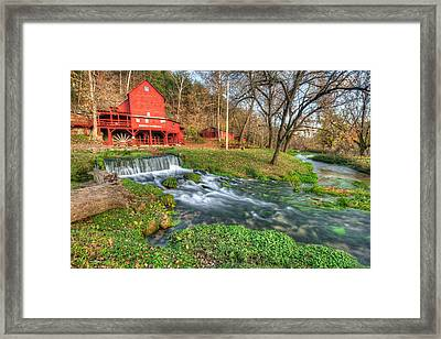 The Hodgson Mill - Missouri Framed Print by Gregory Ballos