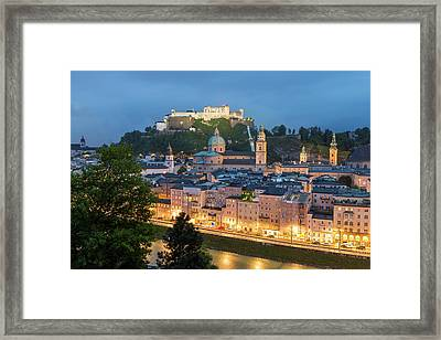 The Hohensalzburg Fortress, Cathedral Framed Print by Peter Adams