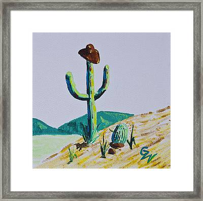 the Hold Up Framed Print by Greg Wells