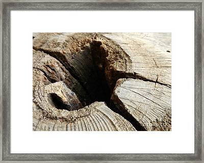 Framed Print featuring the photograph The Hole by Clare Bevan