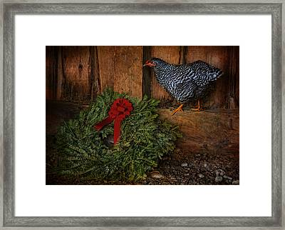 The Holiday Hen Framed Print by Robin-Lee Vieira