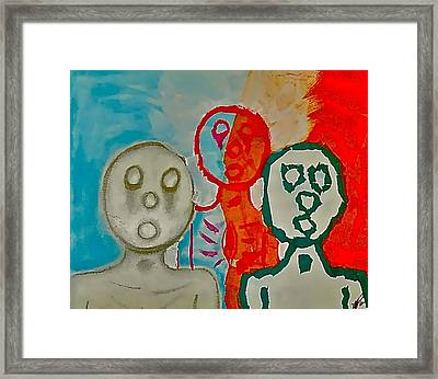 The Hollow Men 88 - Study Of Three Framed Print