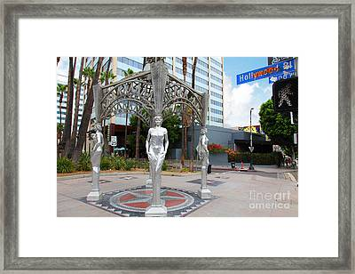 The Hollywood Boulevard Gazebo La Brea Gateway To Hollywood 5d28926 Framed Print by Wingsdomain Art and Photography