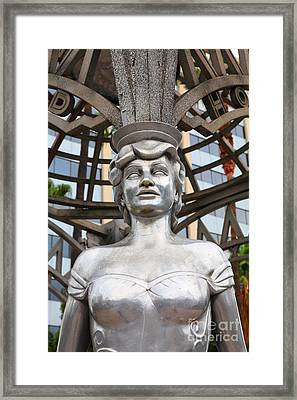 The Hollywood Boulevard Gazebo La Brea Gateway To Hollywood 5d28930 Framed Print by Wingsdomain Art and Photography