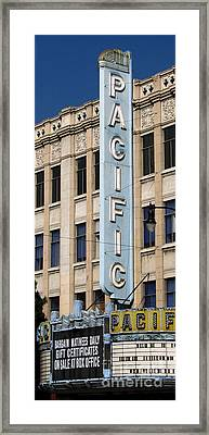 The Hollywood Pacific Theatre Framed Print by Gregory Dyer