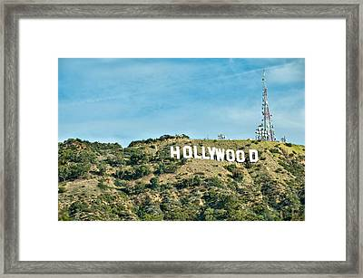 The Hollywood Sign Framed Print by Gregory Ballos