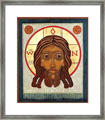 The Holy Face Framed Print by Marcelle Bartolo-Abela