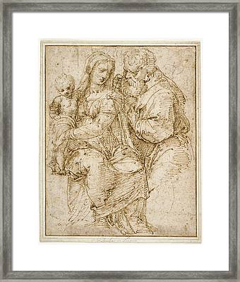 The Holy Family Baldassare Peruzzi, Italian Framed Print by Litz Collection