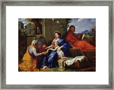 The Holy Family Framed Print by Louis Licherie de Beuron