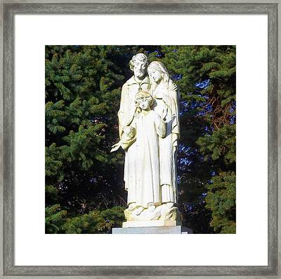 The Holy Family Framed Print by Peg Holmes