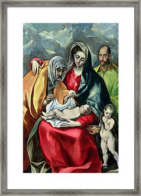 The Holy Family With St Elizabeth Framed Print