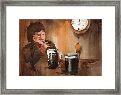 The Holy Hour Framed Print by Val Byrne