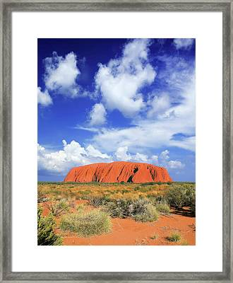 The Holy Mountain Of Uluru, Ayers Rock Framed Print by Miva Stock
