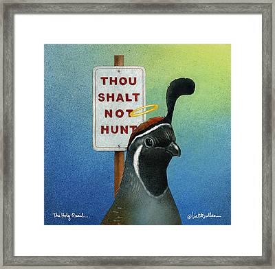 The Holy Quail... Framed Print by Will Bullas