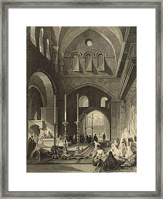 The Holy Sepulchre 1886 Engraving Framed Print by Antique Engravings