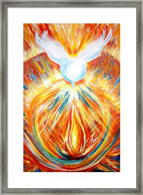 The Holy Spirit Within Framed Print by Sister Rebecca Shinas