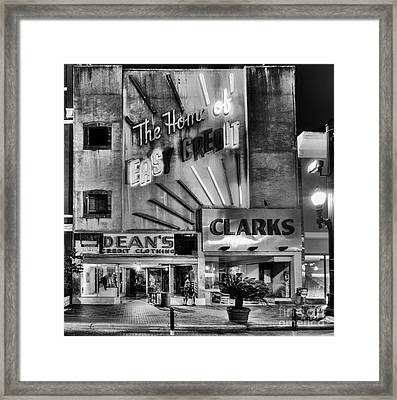 The Home Of Easy Credit Framed Print by Dee Zunker