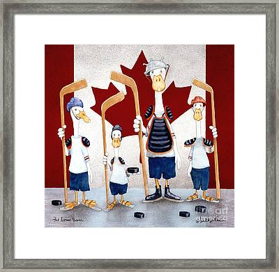 The Home Team... Framed Print by Will Bullas