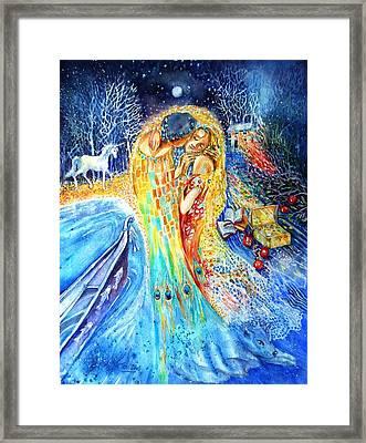 The Homecoming Kiss After Gustav Klimt Framed Print