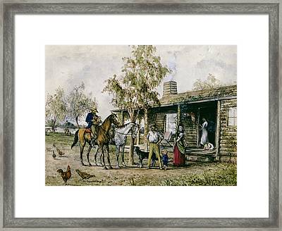 The Homesick Pioneer Woman Framed Print by J Comins