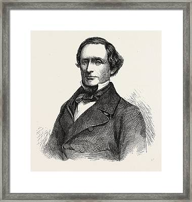 The Hon. Jefferson Davis President Of The Southern Framed Print by English School