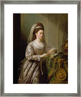 The Hon. Mrs Nathaniel Curzon, 1778 Framed Print by Nathaniel I Hone