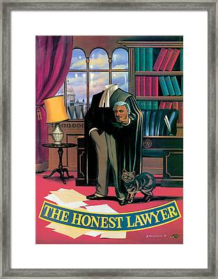 The Honest Lawyer Framed Print by Peter Green