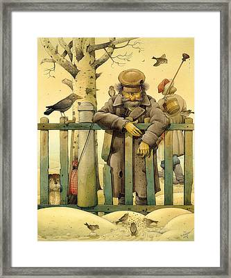 The Honest Thief 02 Illustration For Book By Dostoevsky Framed Print by Kestutis Kasparavicius