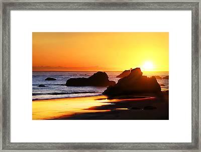 The Honeymoon Sunset  Framed Print