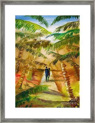 The Honeymooners Framed Print by Donna Chaasadah