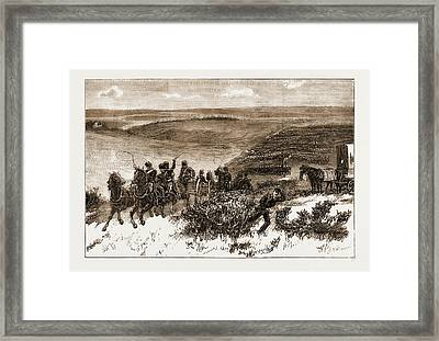 The Honourable Artillery Company Going Into Action Framed Print by Litz Collection