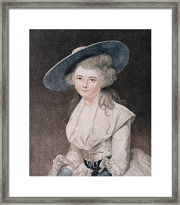 The Honourable Miss Bingham Framed Print by Sir Joshua Reynolds