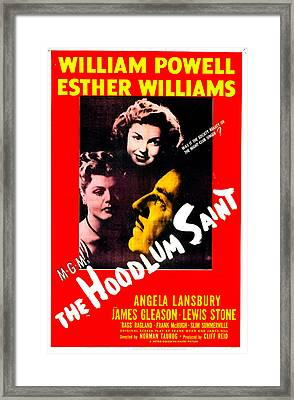 The Hoodlum Saint, Us Poster, From Top Framed Print by Everett