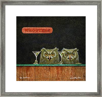 The Hooters... Framed Print by Will Bullas