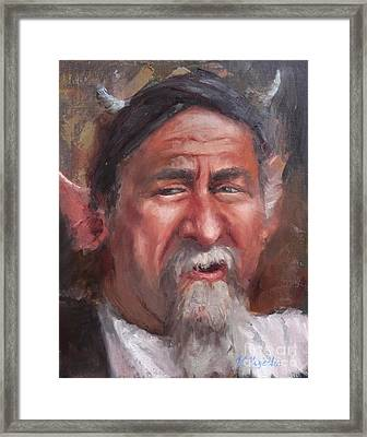 The Horn Salesman Framed Print